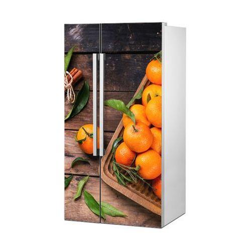 Mata magnetyczna na lodówkę side by side - Pomarańcze na stole 4953