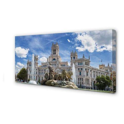 Obrazy na płótnie hiszpania fontanna pałac madryt marki Tulup.pl