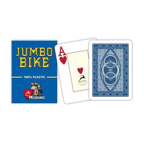bike trophy 2 rogi 100% karty plastikowe - niebieskie marki Modiano