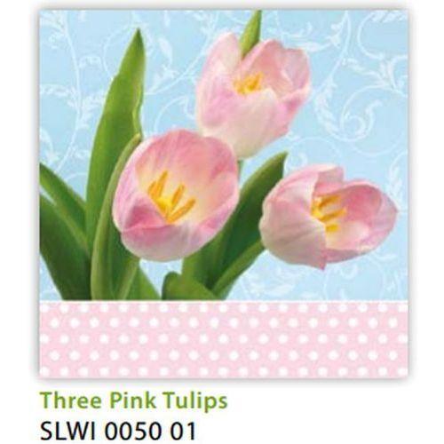 Serwetki 33 x 33 cm SLWI 005001 Różowe tulipany
