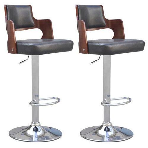 stołki barowe, 2 szt., sztuczna skóra, czarne marki Vidaxl