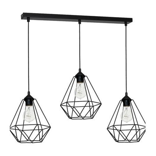 Lampa wisząca Luminex Basket 7215 lampa sufitowa diament 3x60W E27 czarny