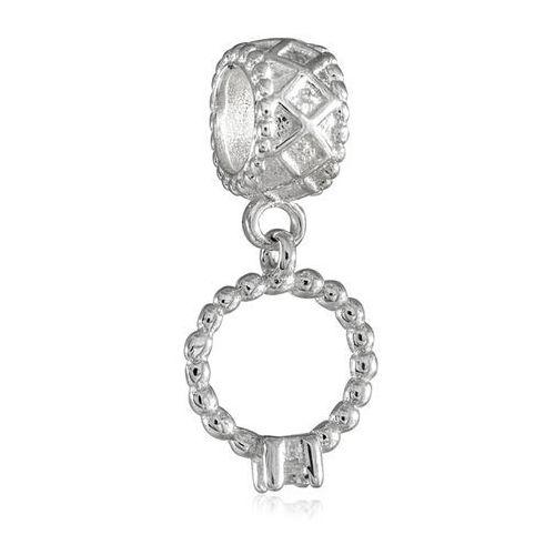 Murrano Charms koralik srebrny pierścionek zaręczynowy