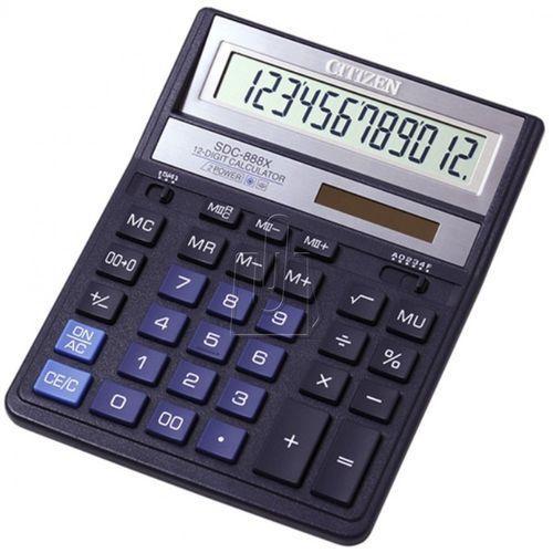 Kalkulator citizen SDC-888 niebieski