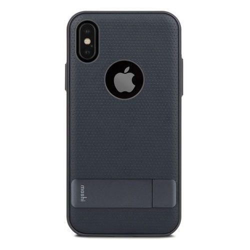 Moshi Kameleon - Etui hardshell z podstawką iPhone X (Midnight Blue) (4713057252648)