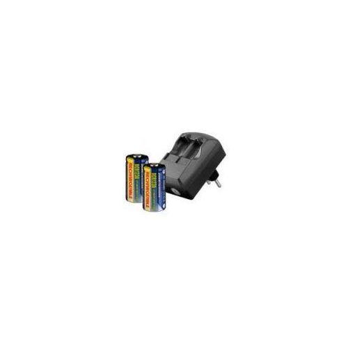 Ładowarka cr123a 230v + 2 szt. akumulatorów cr123a 500mah 3.0v marki Zamiennik