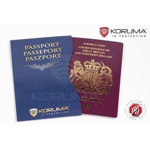 ✅ Etui Chroniące Paszport Biometryczny Zabezpieczone (Granatowy) - Granatowy (5903111394868)