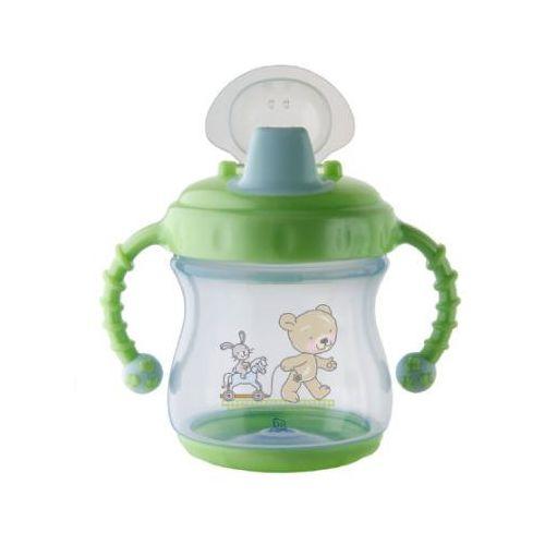 Rotho babydesign Rotho szczelna butelka do nauki samodzielnego picia z miękkim ustnikiem kolor niebieski/zielony