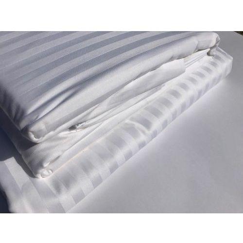 Poszewka Hotelowa OPTIMAL 70x80cm deseń 1 cm pasy biel 100 % Bawełna, F898-2813E