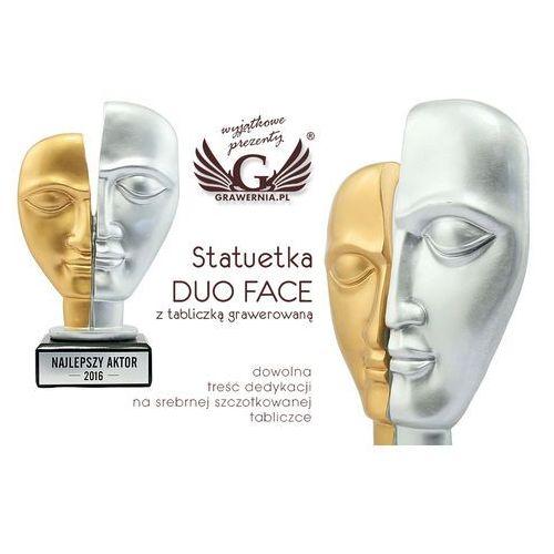 Statuetka duo face - teatr - atrakcyjna figurka odlewana - wysokość 22,5 cm marki Grawernia.pl - grawerowanie i wycinanie laserem