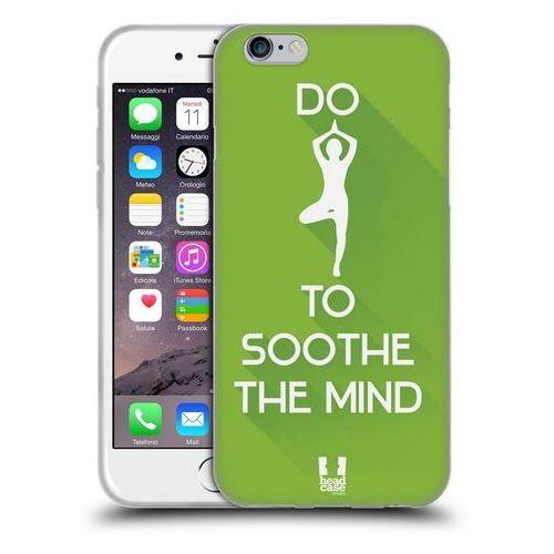 Head case Etui silikonowe na telefon - workout inspirations green yoga