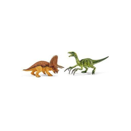 mały zestaw triceratops i terizinozaur 42217 marki Schleich