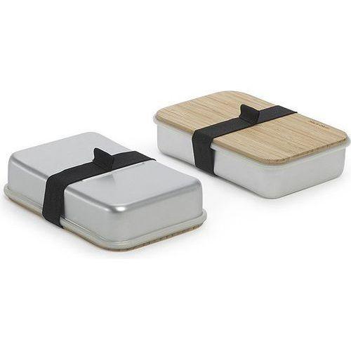 Pudełko na kanapki Sandwich On Board srebrno-szare, sb001