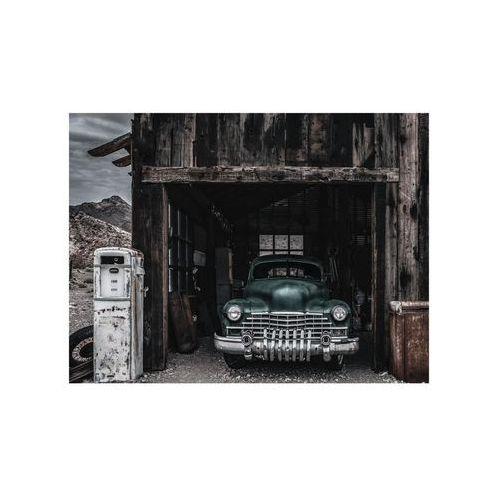 Obraz na szkle METALLIC GREEN CAR 120 x 80 cm