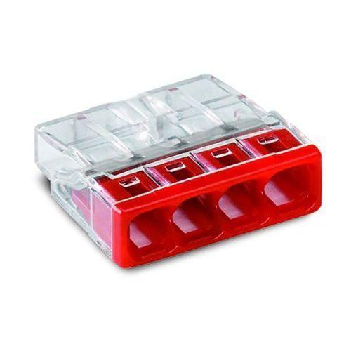 Złączka instalacyjna 4x Compact czerwona 2273-204 Wago