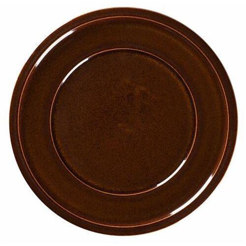 Rak Talerz porcelanowy płytki stone śr. 24 cm brązowy