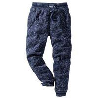 Spodnie sportowe melanżowe ciemnoniebieski melanż marki Bonprix