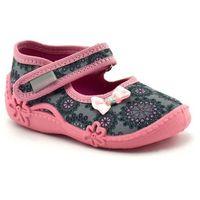 Kapcie dla dzieci bianka - różowy ||szary marki Vi-gga-mi