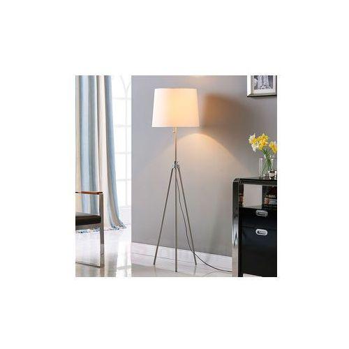 Lampenwelt Materiałowa lampa stojąca dimitrios na trójnogu