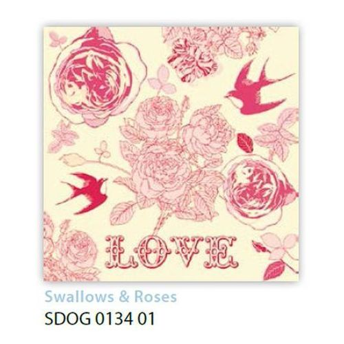 Serwetki 33 x 33 cm sdog 013401 ptaszki i kwiatki - od 24,99zł darmowa dostawa kiosk ruchu marki Pol-mak