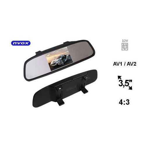 "nw350m monitor samochodowy cofania lcd 3"" cale w lusterku wstecznym av 12v marki Nvox"