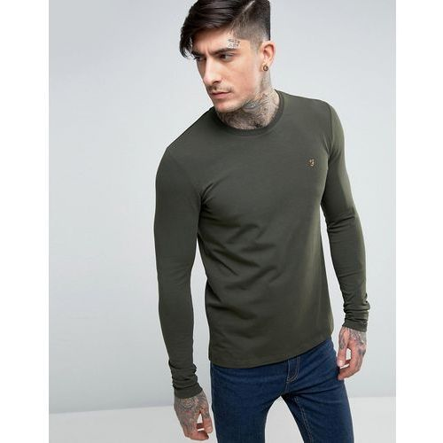 Farah Southall Super Slim Muscle Fit Long Sleeve T-shirt Green - Green