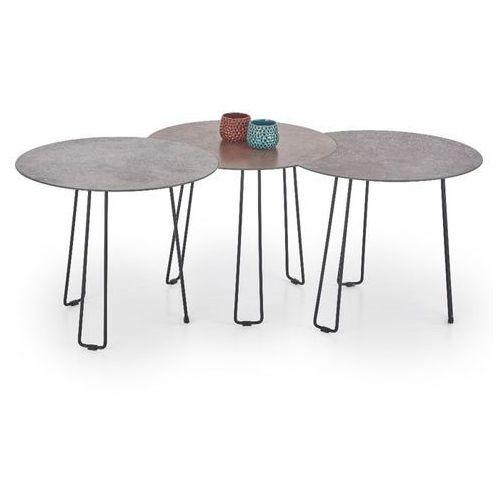 Style furniture Trois zestaw stolików kawowych