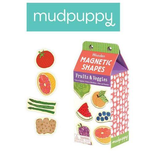 Mudpuppy  - zestaw drewnianych magnesów - owoce i warzywa 35 elementów