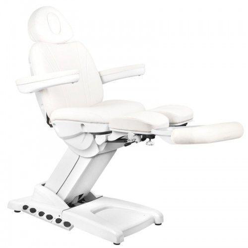 Activeshop Fotel kosmetyczny elektr. azzurro 872s pedi pro exclusive 3 siln. biały