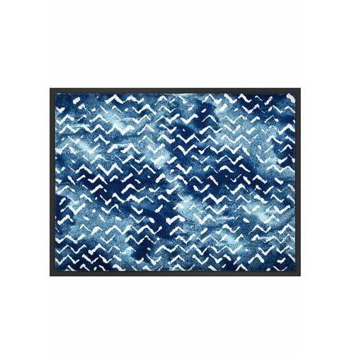 Wycieraczka w falowane linie niebieski marki Bonprix