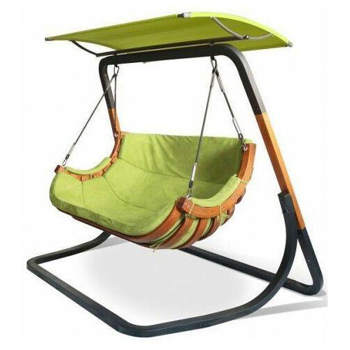 Zielony wiszący fotel ogrodowy z daszkiem - Pasos 5X, fotel