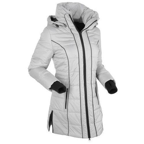 Płaszcz termoaktywny pikowany srebrny matowy marki Bonprix