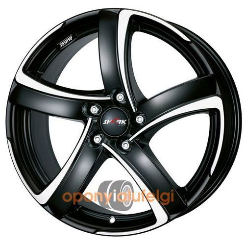 shark racing black frontpolished 8.00x18 5x120 et35 dot marki Alutec