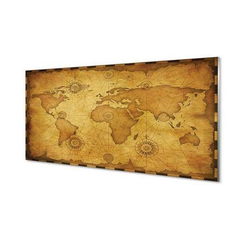 Obrazy akrylowe Stara mapa przypalone brzegi