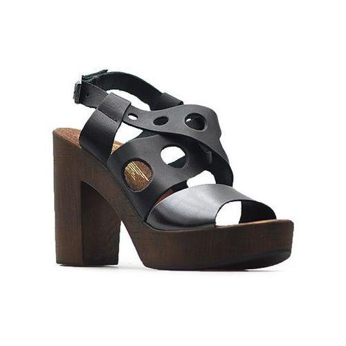 Sandały Lemar 40120 Czarne/Niklowe, kolor czarny