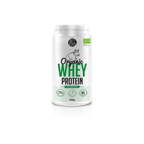 Whey Protein - Białko z serwatki z zielonymi superfoodsami Bio 500g Diet-Food (5901549275681)
