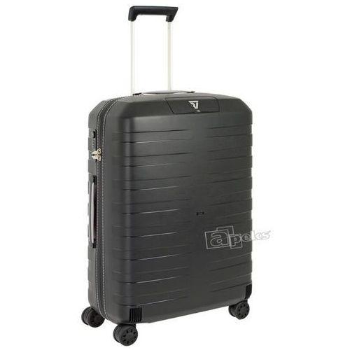 Roncato Box średnia walizka twarda / polipropylen / 69 cm - czarny / biały