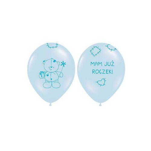 Twojestroje.pl Balon błękit mam już roczek miś 30cm 1szt