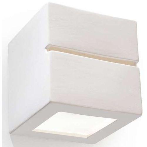Kinkiet lampa ścienna sol sl230 ceramiczna oprawa przyścienna kostka cube biała marki Sollux