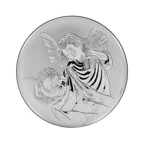 Obrazek srebrny anioł stróż - średnica 5 cm marki Valenti