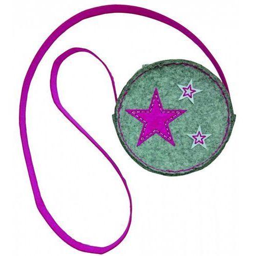 Stnux Filcowe robótki torebka okrągła stars