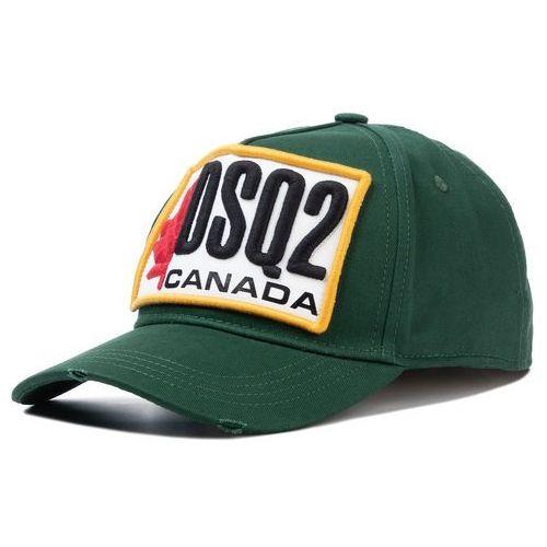 Czapka z daszkiem DSQUARED2 - Patch Cargo Baseball Caps BCM0245 05C00001 M1751 Verde Bosco, kolor zielony