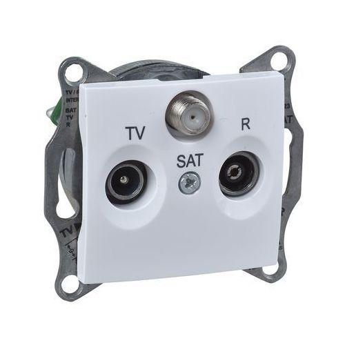 Schneider electric Sedna gniazdo antenowe r/tv/sat (1db) końcowe z ramką diy białe sdn3501521 schneider (8690495064872)