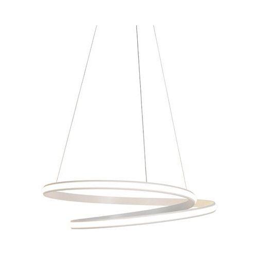 Qazqa Nowoczesna lampa wisząca biała 74cm z diodą led, 3 stopnie do przyciemniania - rowan