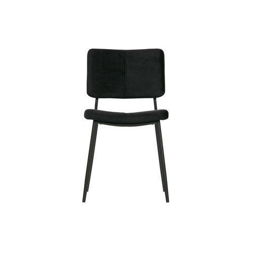 Woood Zestaw 2 krzeseł KAAT velvet czarne 373775-Z (8714713085767)