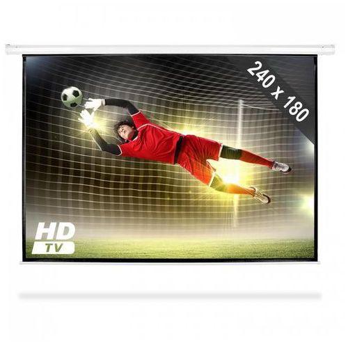 ekran projekcyjny rozwijany, 240 x 180 cm, kino domowe, hdtv, 4:3 marki Frontstage