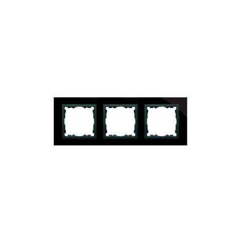 Kontakt simon Simon 82 ramka 3x szkło - czarna / ramka pośrednia grafit 82837-32 tsi-82837-32