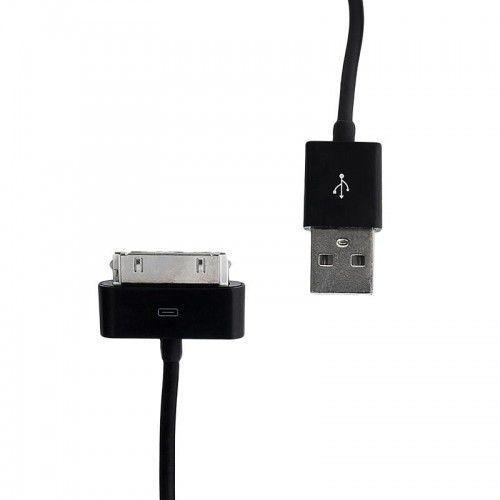 Kabel WHITENERGY iPhone 4 - USB 2.0 0.3m Czarny (5908214367214)