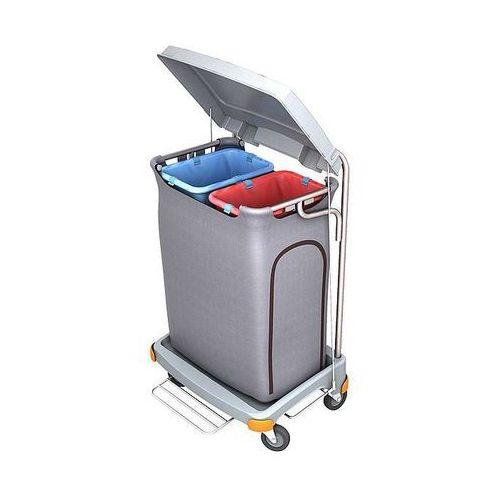Wózek na odpady z tworzywa sztucznego z pedałem 2x70 l tsop-0020 marki Splast