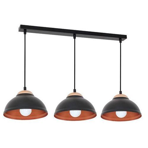 Lampa wisząca Luminex Arne 7397 lampa sufitowa 3x60W E27 czarny / miedziany, 7397